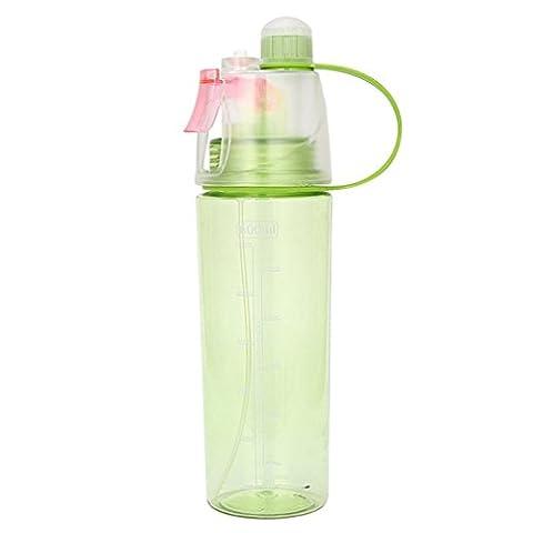 Toamen Cycling Sport Mist Spray Water Gym Beach Bottle Leak-proof Drinking Cup (Green)