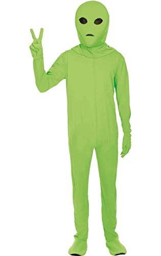 Erwachsene Grüne Ausländer Halloween Kostüm Raum Karneval Verkleidung Extra (Alien Halloween Kostüme Für Erwachsene)