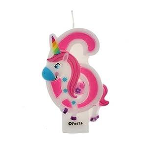 Velas de Cumpleaños Diseño Unicornio