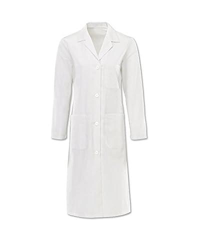 Alexandra Workwear Womens Button Lab Coat White