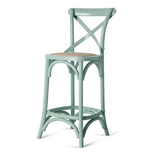 Bar stools-GAP Höhenverstellung-  JBD Massivholz Barhocker Europäische Stil Retro Hohe Fuß Hocker...