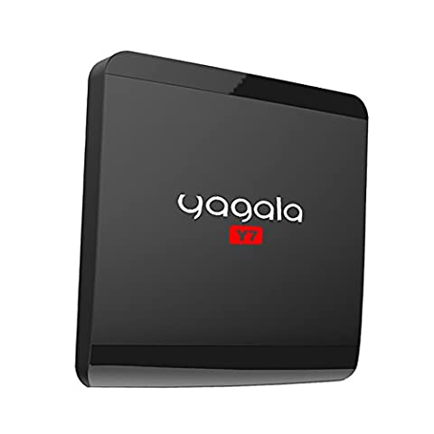 YAGALA Y7 Android TV Box with Android 6.0 Rockchip RK3229 Quad Core 1GB RAM/8GB ROM smart box supports Ultra HD 4K 2.4Ghz WiFi 100M LAN HDMI