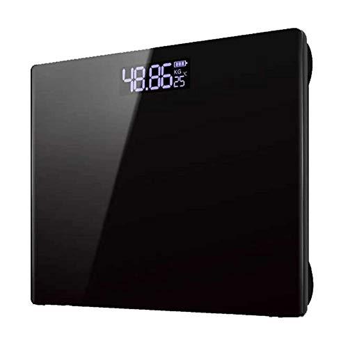 Preisvergleich Produktbild Elektronische Waage Fat Scales Home Präzisionswaage Waage Körperwaagen mit Einem Gewicht von Gesundheit USB Elektronische Waage Schwarz