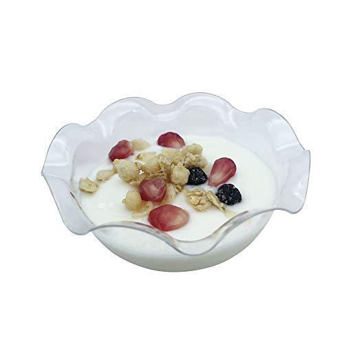 Ahippob - set di 25 mini-coppette da dessert usa e getta, 113 ml, elegante forma squadrata, trasparenti e inodori, ideali per degustazioni