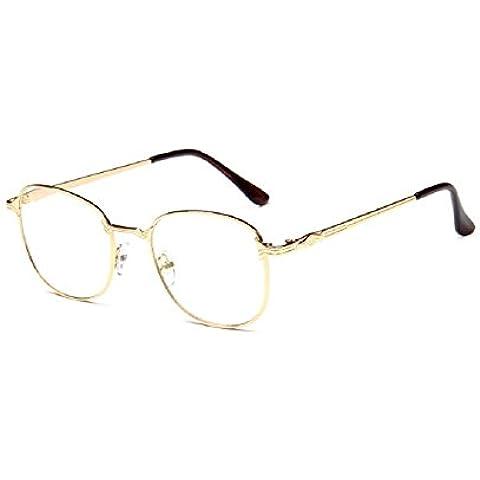 espejo llano metal de la vendimia dise?o de las gafas de montura de gafa marco del espejo tee estudiante de la manera Embryform