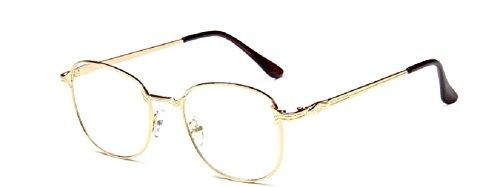 Embryform Mode normalen Spiegel Jahrgang Metall Brillenfassung Brille Rahmen Spiegel-T-Student (Günstigsten Kontaktlinsen)