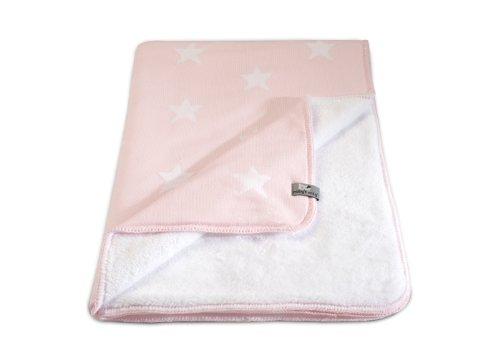 Baby's Only 821094 Babydecke Strickdecke Sterne mit Teddyfutter, 90 x 75 cm, rosa/weiß (Italienischen Den Weißen, Strick-stoff)