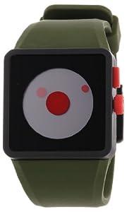 Reloj Nixon A1161048-00 de cuarzo para hombre con correa de silicona, color verde de Nixon