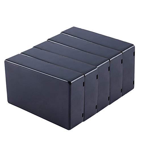 Yosoo 5Pcs 100x 60x 25mm Negro de la cubierta impermeable de plástico Proyecto Electrónico Caja Instrumento Case BRICOLAJE Caja De Derivación de