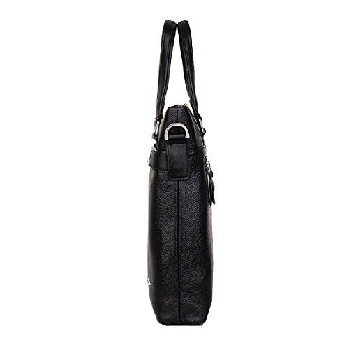Yy.f Neues Geschäftspaket Die Erste Schicht Der Ledernen Beutel Lederne Gurtdekoration-Geschäftslederhandtasche Schulterbeutel Normallackpaket Farbe 2 Brown