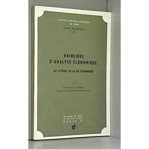 Principes d'analyse économique (Institut d'études politiques de Paris)