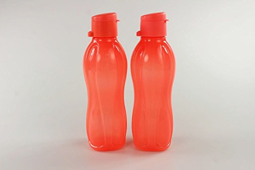 TUPPERWARE To Go Eco 500 ml (2) neon orange Flasche Wasser Saft Öko Trinkflasche P 22259 -
