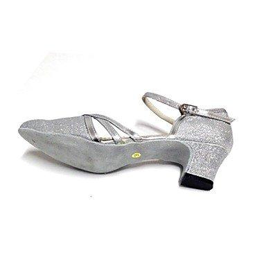 XIAMUO Angepasste Women's Ballroom Closed-toe Dance Schuhe Rot
