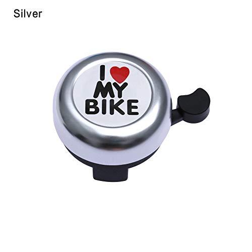 Ruan Sport Aluminium-Sicherheitswarnung Lenker Herzring Glockenschlag Fahrrad Horn Fahrradalarm -