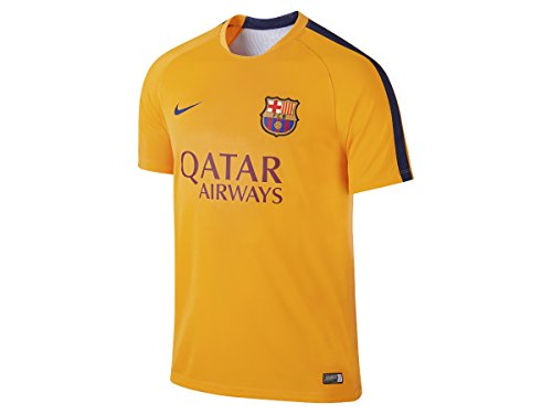 2015-2016 Barcelona Nike Pre-Match Training Jersey (Gold) (Barcelona Pre-match)