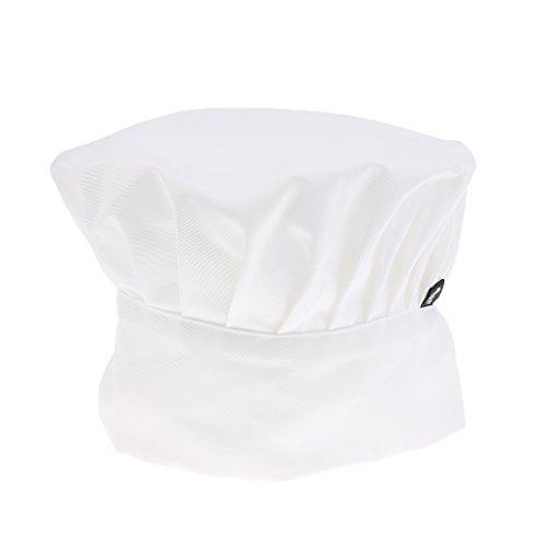 Elastisch Erwachsener Elastische Bäcker Küche Kochen Hut Kostüm Kappe Kochmütze Kochmütze Mütze Koch Chef Küchechef Chefmütze - Weiß, 110 cm * 120 cm / 43.3inch * 47.24inch