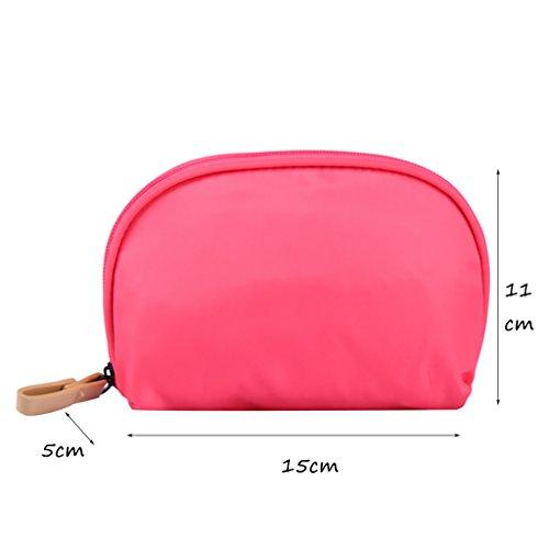 CLOTHES- Shell Cosmetic Bag viaggio semicircle lavare il pacchetto trasparente in PVC nichel borse donna sacchetto cosmetico ( Colore : Il blu scuro. ) Rosa