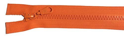 Reißverschluß Kunststoff teilbar für Jacken 40 cm orange (Schere Nähmaschine Orange)