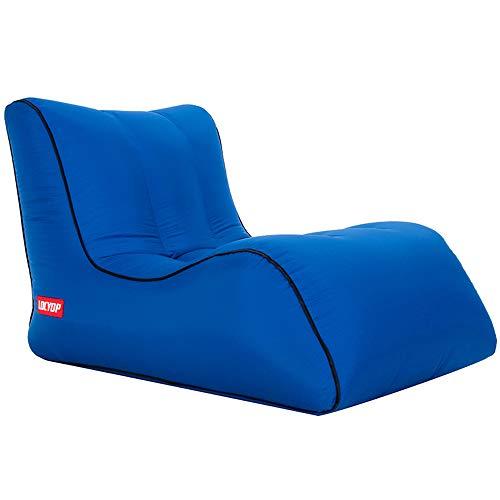 ZED- Aufblasbares Sofa Outdoor, Luftsofa, Air Aufblasbares, Aufblasbare Liege, Aufblasbarer Sitzsack, Air Lounger super geeignet für Indoor im Freien beim campen oder bei Picknicks