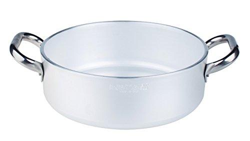 Pentole Agnelli ALMR110620 Alluminio Professionale 5 mm, Casseruola Cilindrica Bassa Radiante, 2.5 L