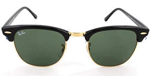 Ray-Ban Clubmaster Rechteckig Sonnenbrille, Black (W0365 Ebony/arista)