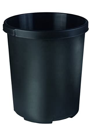 HAN 1836-13 Waste-Paper Bin 50 Litres Polypropylene Cone-Shaped 350 / 430 mm / 490 mm 50 L Black