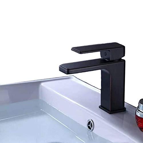 Wasserhahn mischbatterie Mischer für warmes und kaltes Wasser Badezimmer Waschbecken Wasserhahn Messing- Antiquität Keramikspule schwarz