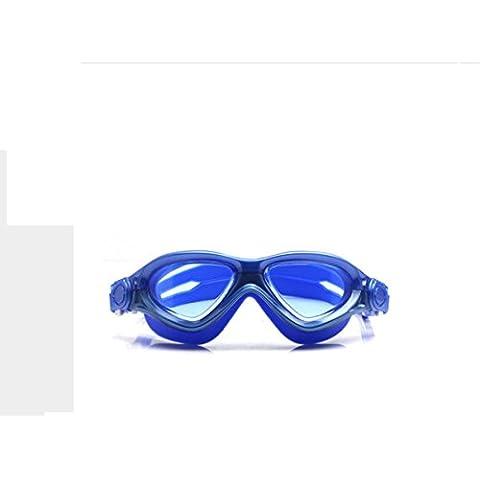 opel-r HD Caja Transparente Gafas adulto natación, Gafas de buceo niños PC Material es resistente al agua y niebla (Tapones para los oídos) F318, 5