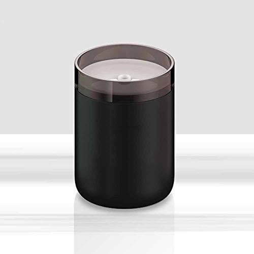HONG Luftbefeuchtung Staubsammler USB Office Desktop Kerzenhalter Mini Luftreinigung Zusätzlich Zu Staub, Rauch, Fauligem Geruch, Freigabe Negative Ionen Luftreinigung Staubsauger,Black (Mini-desktop-roboter-staubsauger)