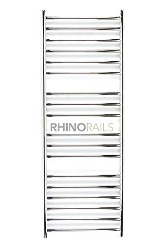 rhinorails 1300mm x 520mm Ergo (flach), 520Edelstahl Badheizkörper | Designer Beheizter Handtuchhalter | 25Jahre Garantie