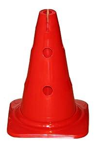 agility sport pour chiens - cône avec trous, 30 cm, rouge - 1x MZK30r