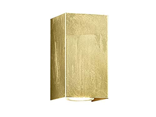Trendige up & down Applique murale rectangulaire à LED avec revêtement doré 15 x 8 x 8 cm