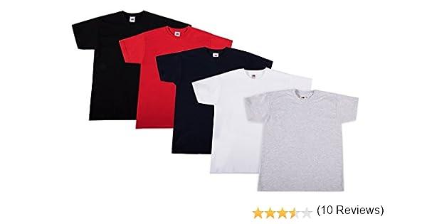Bambino Pacco da 10 Fruit of the Loom T-Shirt