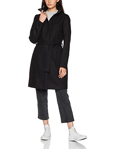 Vila Clothes Damen Mantel Vibee Wool Coat-Noos, Schwarz (Black Black), 42 (Herstellergröße: XL)