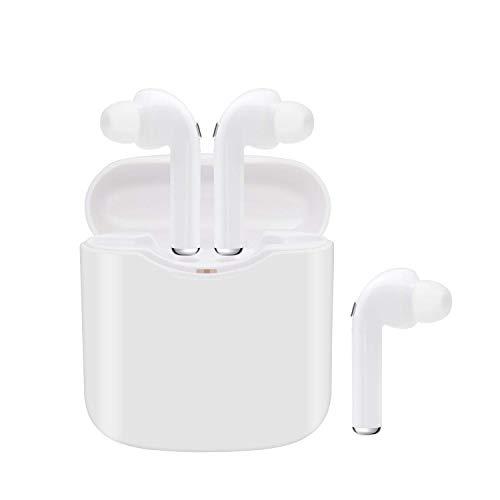 Bluetooth Kopfhörer V5.0 kopfhörer kabellos in Ear Headset Stereo-Minikopfhörer Sport Wasserdicht mit Ladekästchen und Integriertem Mikrofon für Kompatibel mit Allen Smartphones - Ohne Ohrhörer Kabelsalat