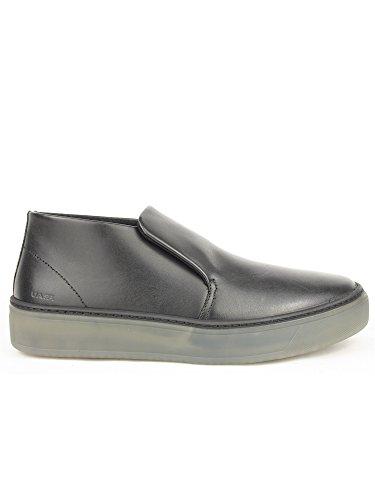 FRAU 20T9 chaussures noires homme baskets milieu des bottes de randonnée peau de confort Noir