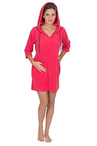 Damen Badekleid Hauskleid Strandkleid Frotteekleid by Otto Wener 036 Erdbeere (XS)