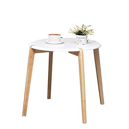 Zhuozi FUFU Tische Massivholz Eiche Beistelltisch Moderner Nachttisch Kleine Wohnung Verhandlungstisch Balkon Couchtisch Drop-Blatt-Tabelle (Color : A) - Picknick-tische Eiche