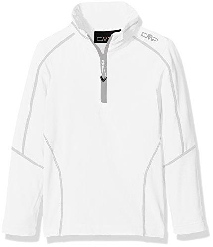 CMP Jungen Funktionsrolli Funktionsshirt, Bianco-Argento, 140 (Jungen-fleece-shirt)