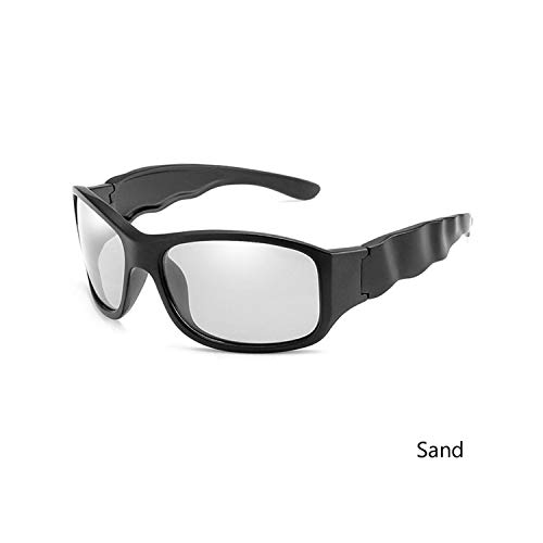 Sport-Sonnenbrillen, Vintage Sonnenbrillen, NEW Photochromic Sunglasses Männer Polarized Wave Legs Driving Goggles WoMänner Brand Designer Gafas De Sol UV400 Sand Black Grey