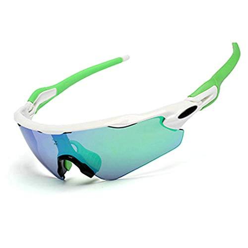Anyeda Sportbrille für Herren TR90+PC Brille Schutzbrille für Damen Grau Grün