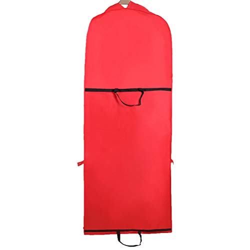 OUNONA Foldable Wedding Dress Clothing Dust Covers Clothes Suits Dresses Storage Protector Cover 150CM (Red)