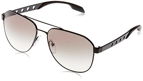 Prada Herren Machine PR51RS Sonnenbrille, Schwarz (Matte Black 1BO0A7), One Size (Herstellergröße: 60)