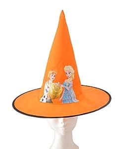 Ciao 31353 - Sombrero Cono de bruja de tela Basic Disney Frozen Halloween accesorios para niños, amarillo, talla única