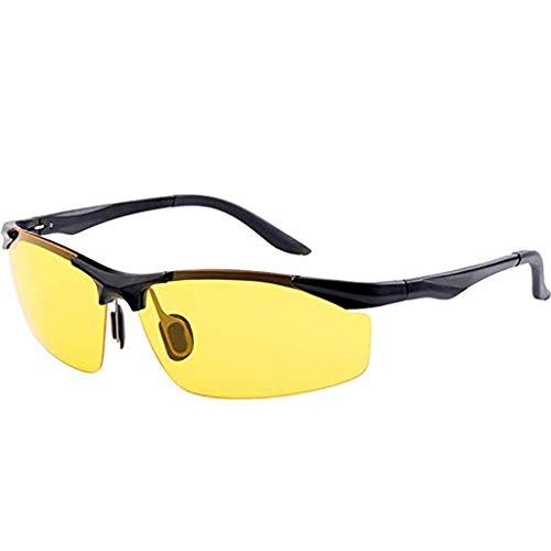 I will take action now Brille Polarisiertes Nachtsichtfahren, dedizierter Fahrer HD Anti-Fernlicht-Blendschutzfischensicherheit ultraleichte Brille, Herrenwohnung
