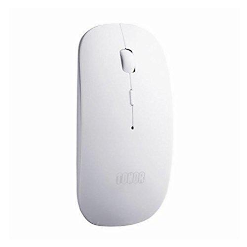 Tonor Mouse Wireless Ottico Bluetooth Ricaricabile Silenzioso Ultra Sottile Portabile Versione Aggiornata per PC Mac Tablet Laptop Computer Bianco