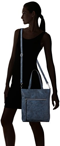 Tom Tailor Acc Damen Tyra Shopper, 30x32x6 cm Blau (blau 50)