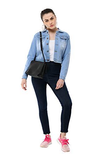 AAKRITHI Women's Denim Jacket (Blue; M)