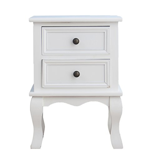 cherrytree-furniture-wood-white-bedside-table-2-drawers-cabinet-white