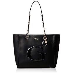 Guess Chrissy, Cabas femme, Noir (Black), 12x27x40 cm (W x H L)